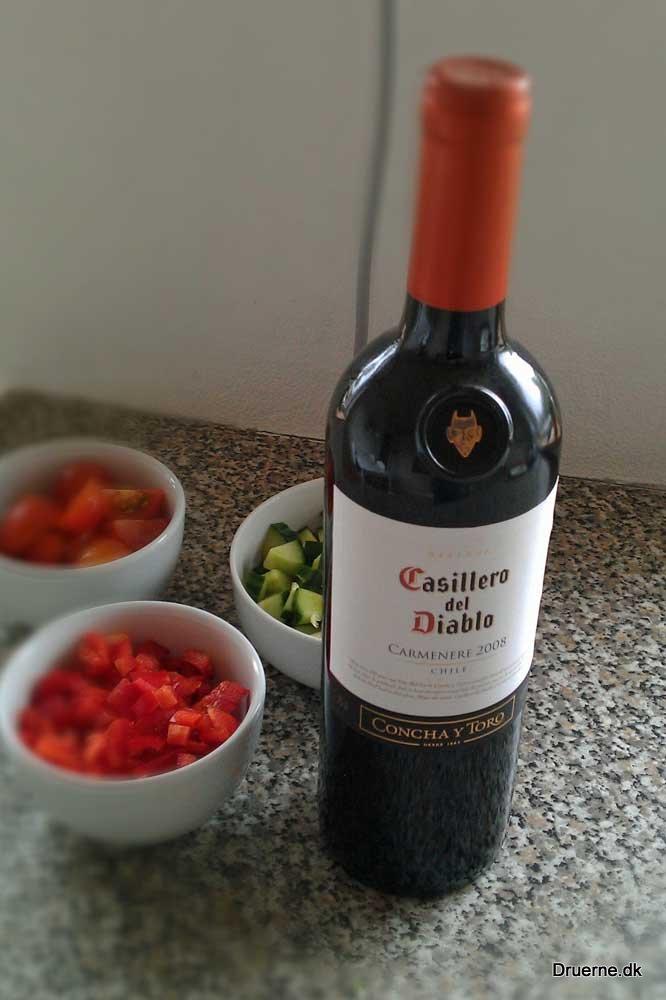 lykken er at dele en flaske vin