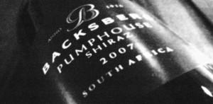 Backsberg Pumphouse Shiraz 2007